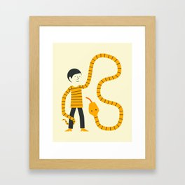 SWEATER SNAKE Framed Art Print