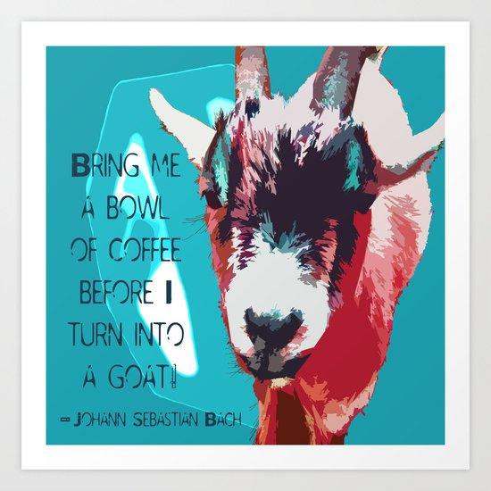 Goatee Art Print