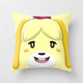 Animal Crossing Isabelle Throw Pillow