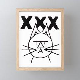 FeltTipCat - XXX Framed Mini Art Print