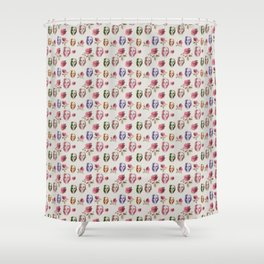 dead girl and roses pink Shower Curtain