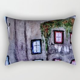 Houses in Milan in the evening Italy Rectangular Pillow