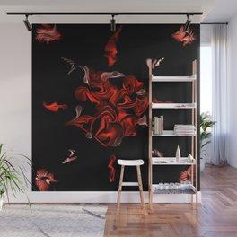 Flaming Rose Wall Mural