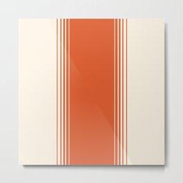Marmalade & Crème Vertical Gradient Metal Print