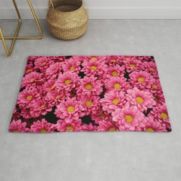 FLATLAY PHOTOGRAPHY OF RED PETALED FLOWER Rug