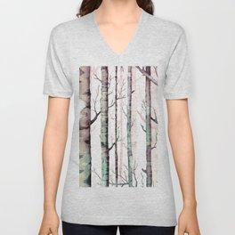 Birch Tree Forest Unisex V-Neck