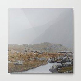 Snowden Mountain River Metal Print