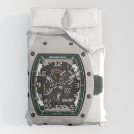 Richard Mille RM030 Le Mans White ATZ Ceramic Mens 50MM Watch  Duvet Cover