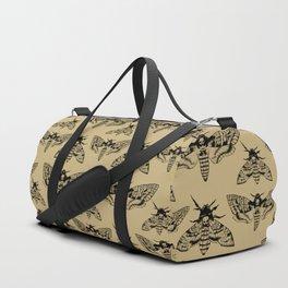 Antique Deaths Head Hawk Moth Pointillism Duffle Bag