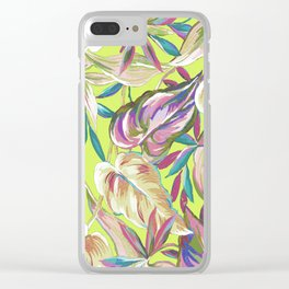 summer tropical Clear iPhone Case