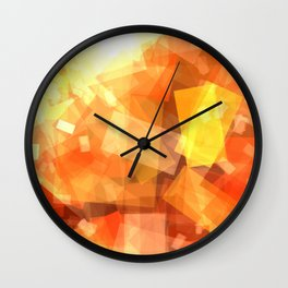 Orange rectangle coctail Wall Clock