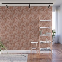 Abstract Polygon Sherwin Williams' color of the year for 2019, Cavern Clay Cubism Low Poly Triangle Wall Mural