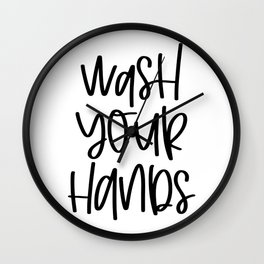 Wash Your Hands Wall Clock