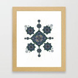 Lively Earth Mandala - v.3 Framed Art Print