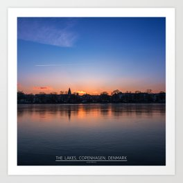 The Lakes, Copenhagen Art Print