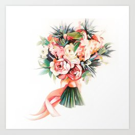Wedding bouquet Art Print