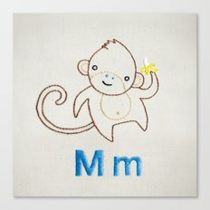 M Monkey Canvas Print