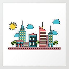 city 03 Art Print