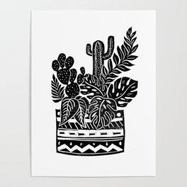 Botanical Pot Block Print Poster
