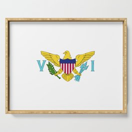 Virgin Islands US flag emblem Serving Tray