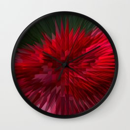 Exploding Red Rose Wall Clock