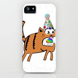 Birthday It's My Birthday Cat Theme iPhone Case