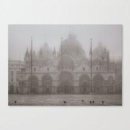 San Marcos Basilica at Piazza San Marcos, Venice, Italy Canvas Print