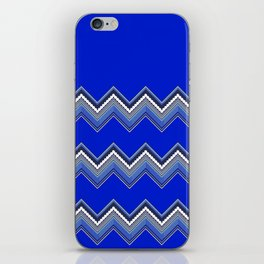 ZZIG A ZIGG AHH - Zig Zag, Blue, Fun, Bright, Repeat, Nursery iPhone Skin