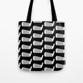 Golf Club Head Vintage Pattern (Black/White) Tote Bag