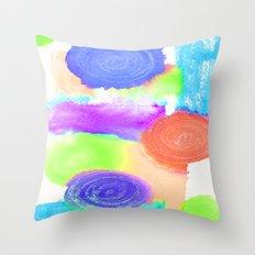 Watercolour Swirls 2 Throw Pillow