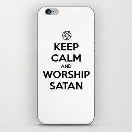 Keep Calm and Worship Satan iPhone Skin