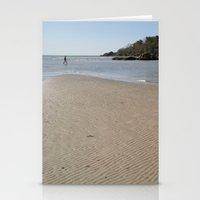 monkey island Stationery Cards featuring Walking Towards Monkey Island Palolem by Serenity Photography