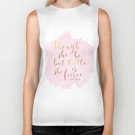 Though She Be But Little She Is Fierce,Shakespeare Print,Fierce Quote,Girls Room Decor,Nursery Girls Biker Tank