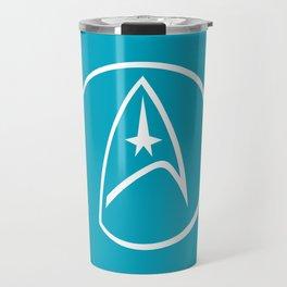 Heathen Trekkie - StarTrek 's Spock Blue Travel Mug