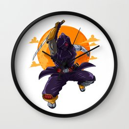 Ninja Gamer Birthday Cyborg Wall Clock