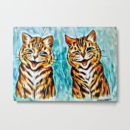"Louis Wain's Cats ""Winking Cats"" Metal Print"