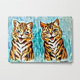 "Louis Wain's Cats ""Winking Cats"" Metal Print"