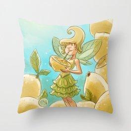 Goblins Drool, Fairies Rule - Lemon Loop Throw Pillow