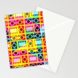 Colorful camera pattern Stationery Cards
