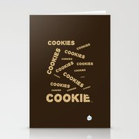 cookies Stationery Cards featuring COOKIES! by Lindsay Spillsbury