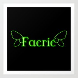 Faerie With Wings Art Print