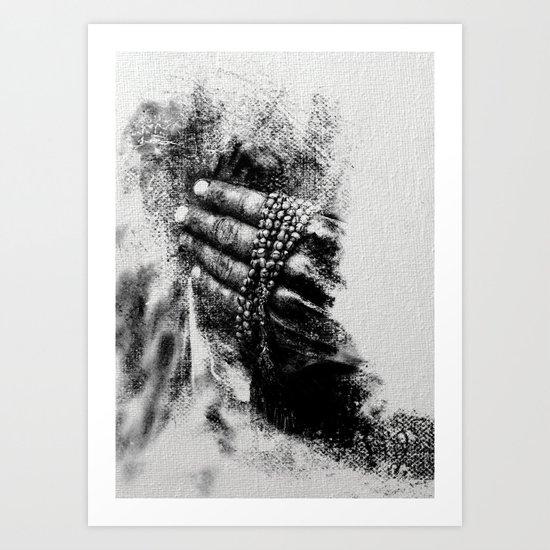 Esperimenti con Carbone 5 Art Print