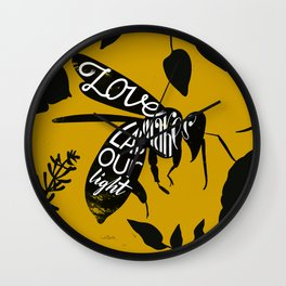 Love makes labour light Wall Clock