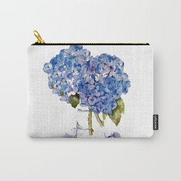 Cape Cod Hydrangea Large Canvas Carry-All Pouch