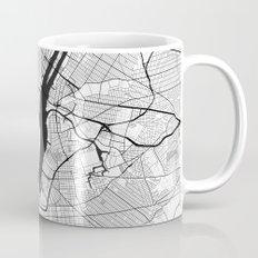 New York Map Gray Mug
