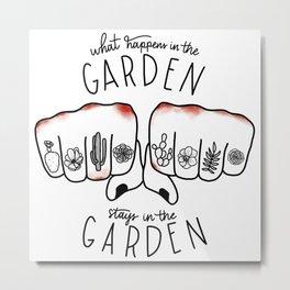 What Happens in the Garden? Metal Print
