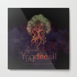 Yggdrasil, the world tree! Metal Print