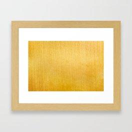 Gold Texture Framed Art Print