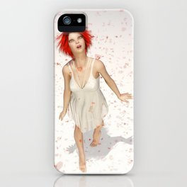 Falling Petals iPhone Case