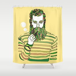 Sea Wolf Ghost (Yellow Version) Shower Curtain